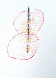 drawing 7 by Sarita Chouhan, Illustration Drawing, Pen on Paper, Gray color