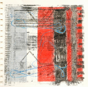Rituals-2 by Surendra Pal Joshi, Abstract Painting, Mixed Media on Paper, Brown color