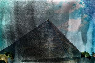 LOST by Santosh Jain, Digital Digital Art, Digital Print on Canvas, Green color