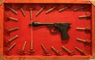 Gun of peace by Vivek Prasad, Decorative Sculpture   3D, Mixed Media, Red color