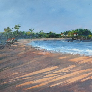 Konkan-E by SIDRAM G., Impressionism Painting, Acrylic on Board, Cyan color