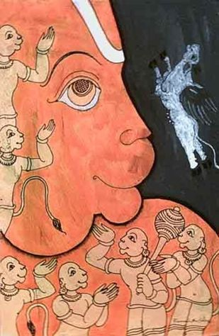 Untitled by Ramesh Gorjala, Folk, Traditional Painting, Mixed Media on Paper, Brown color
