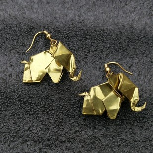 Origami Elephant Earrings Earring By SITE art store