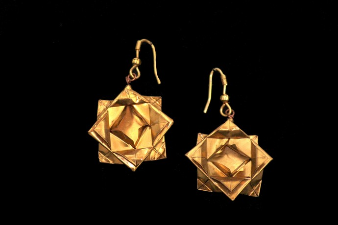 Origami Lotus Earrings by SITE art store, Contemporary Earring