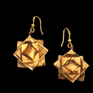Origami Lotus Earrings Earring By SITE art store
