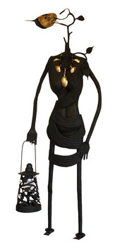 Peepal lady with lamp Wall Decor By Devrai Art Village
