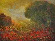 Landscape V by Zargar Zahoor, Impressionism Painting, Acrylic on Canvas, Brown color