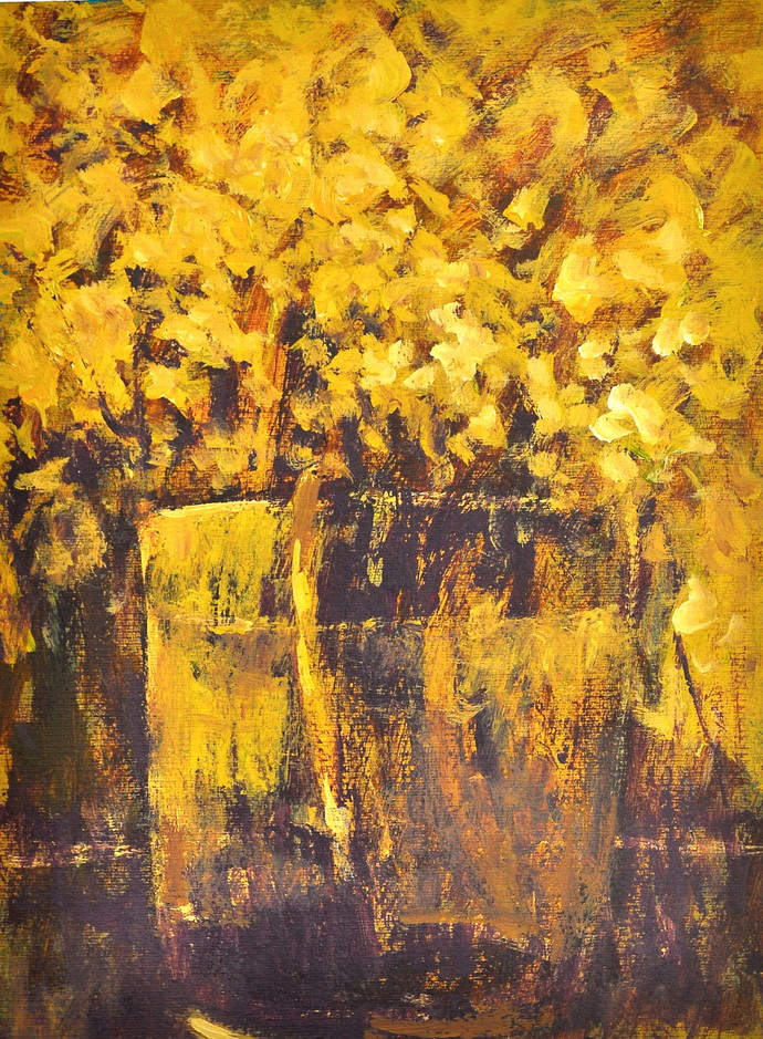 Still lIfe 3 by Zargar Zahoor, Impressionism Painting, Acrylic on Paper, Brown color