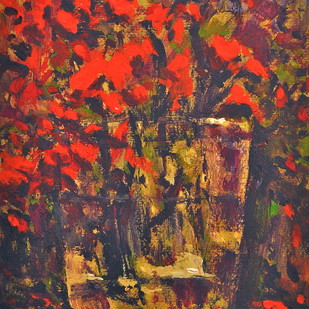 Still Life 12 by Zargar Zahoor, Impressionism Painting, Acrylic on Paper, Brown color