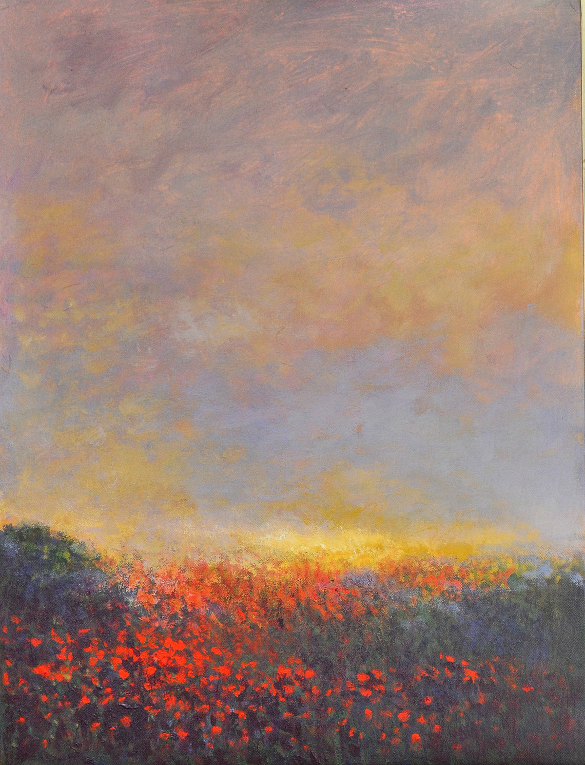 Landscape 5 by Zargar Zahoor, Impressionism Painting, Acrylic on Canvas, Brown color