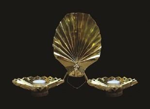 Grace & Gleam Installation by SITE art store, Traditional Artifact, Brass, Black color