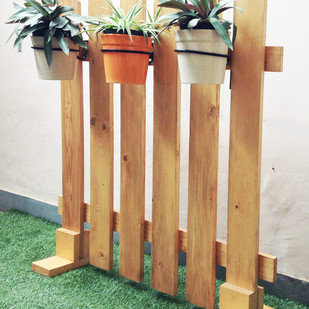 Picket Garden Fence with planters Garden Decor By Studio Earthbox