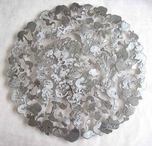 Born again and Again by Kavita Nayar , Conceptual Sculpture   3D, Metal, Gray color