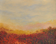 Landscape 14 by Zargar Zahoor, Impressionism Painting, Acrylic on Canvas, Beige color