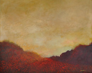 Landscape 16 by Zargar Zahoor, Impressionism Painting, Acrylic on Canvas, Brown color