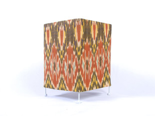 Hues of Ikat by Orunie Designs, Contemporary Table Lamp, Metal, Brown color