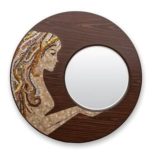 Mirror Beauty Gold Looking Mirror By Vandeep Kalra