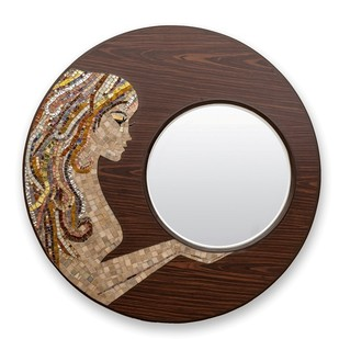 Mirror Beauty Gold Looking Mirror By Vandeep Kalra