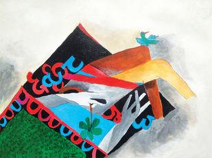 Delusion at Midnight-II Digital Print by Vijendra S Vij,Expressionism, Fantasy