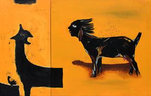 Shikasht-The Defeat-III Digital Print by Vijendra S Vij,Fantasy