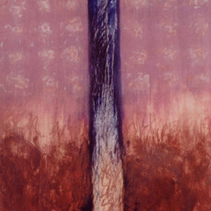 Cosmopolitan Complements by Bhaskar Hande, Abstract Painting, Oil on Canvas, Brown color