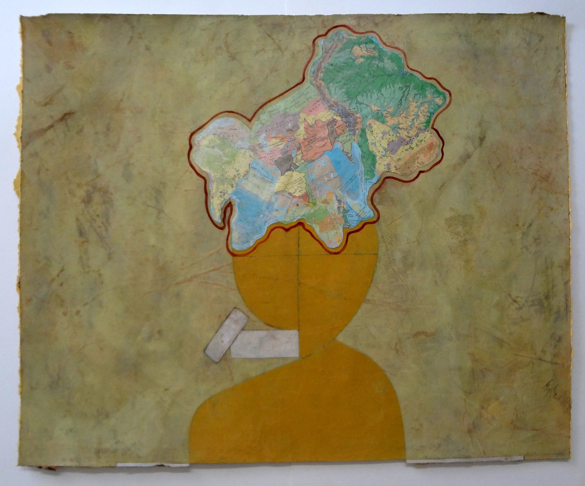 The Yellow Girl by Tanmoy Samanta, Impressionism Painting, Gouache on Paper, Brown color