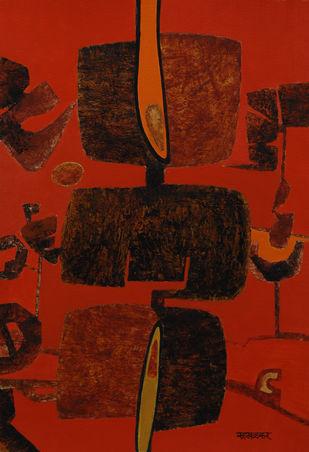 Bramhaakshar Digital Print by Salil Sakhalkar,Surrealism