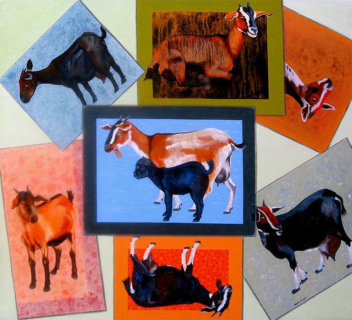 FAMILY ALBUM by SK NUR ALI, Decorative Painting, Acrylic on Canvas, Brown color