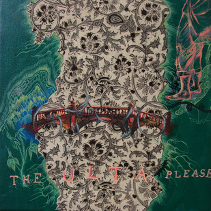 Home - Freak ! by RAJARSHI SENGUPTA, Surrealism Painting, Mixed Media on Canvas, Brown color