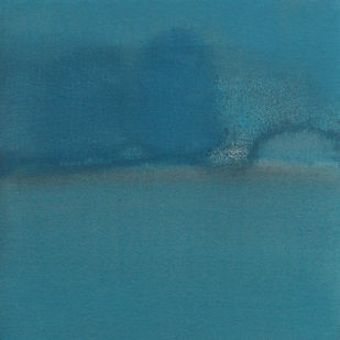 Blue 31 by Deepak Madhukar Sonar, Abstract Painting, Acrylic on Canvas, Cyan color