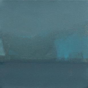 Blue24 by Deepak Madhukar Sonar, Abstract Painting, Acrylic on Canvas, Green color