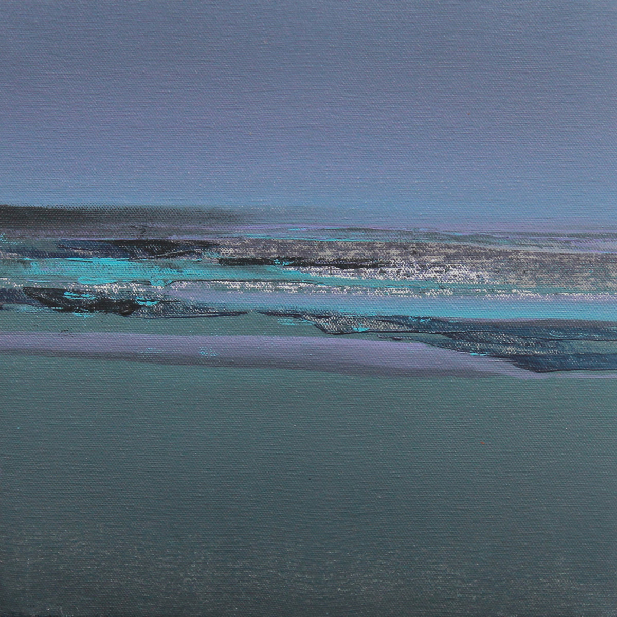 Blue 50 by Deepak Madhukar Sonar, Abstract Painting, Acrylic on Canvas, Green color