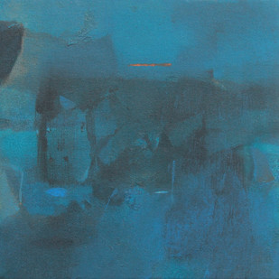 BLUE 88 by Deepak Madhukar Sonar, Abstract Painting, Acrylic on Canvas, Green color