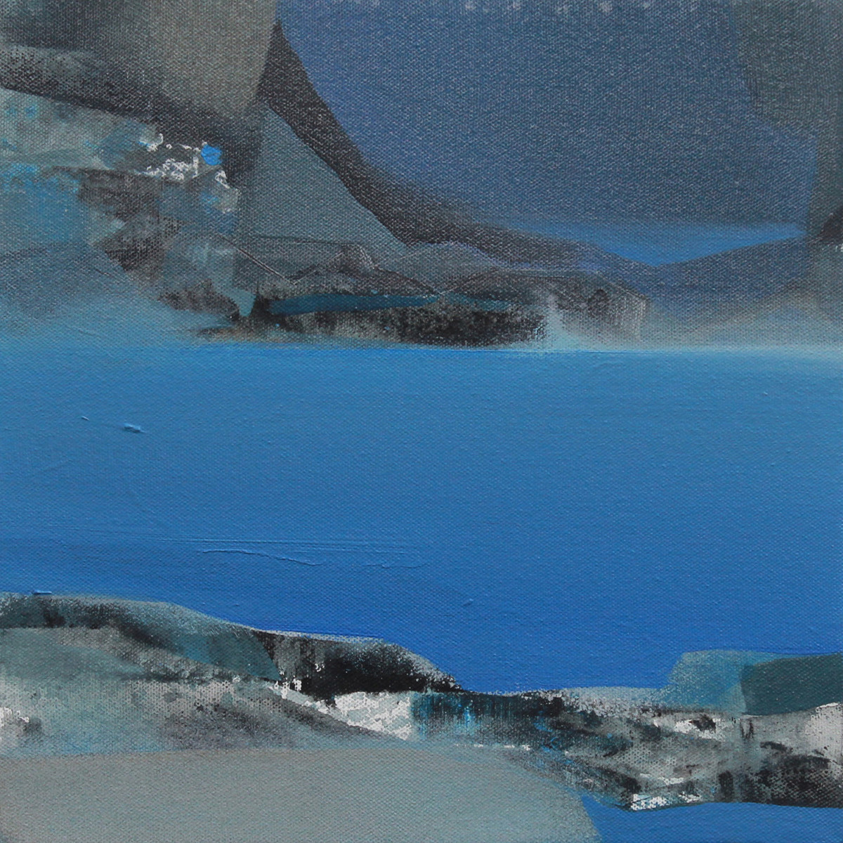 Blue 59 by Deepak Madhukar Sonar, Abstract Painting, Acrylic on Canvas, Blue color