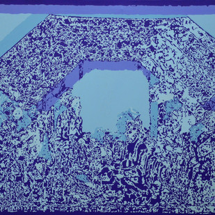 Jubilation III by Niraja Bhuwal, Abstract, Impressionism Painting, Acrylic on Canvas, Blue color
