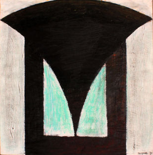 Drawing 05 by Bhaskar Hande, Abstract Drawing, Graphite on Paper, Black color