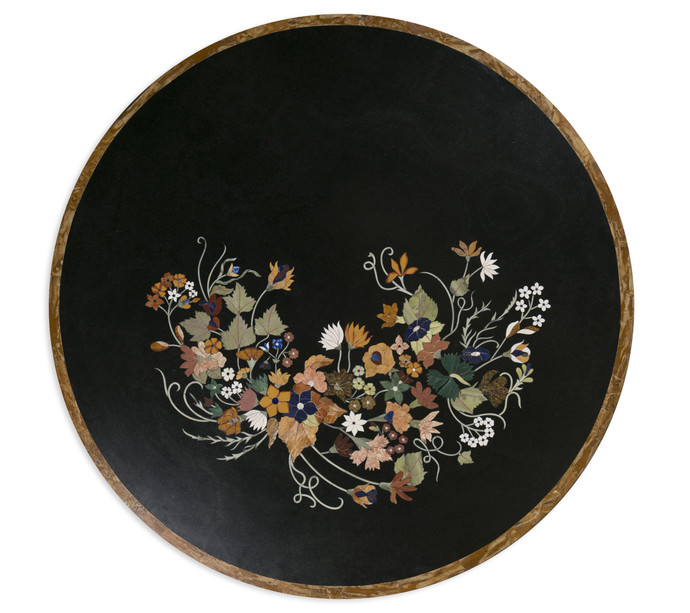 Fiore Tabletop, Black Furniture By Carved Additions