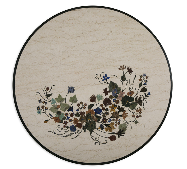 Fiore Tabletop, Beige Wall Decor By Carved Additions