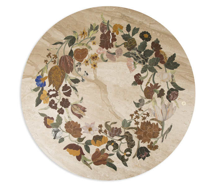 Poetic Tabletop, Round Furniture By Carved Additions