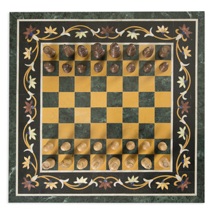 Chess Board Inlay Tabletop Artifact By Carved Additions