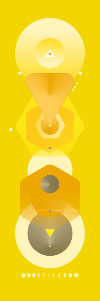 Ascension by Kush, Digital Digital Art, Digital Print on Canvas, Yellow color