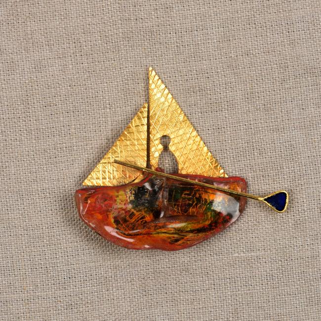 Alone at Sea by Miranika, Art Jewellery Brooch