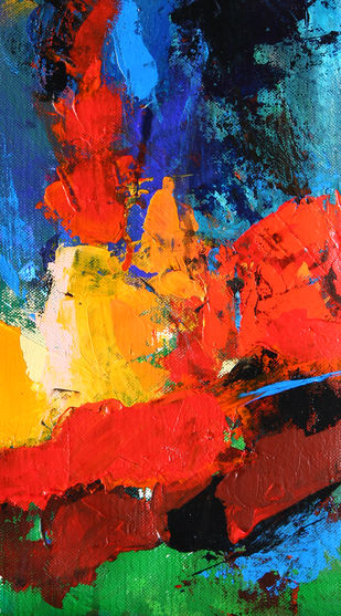 Celebration by Neena Singh, Abstract Painting, Acrylic on Canvas, Blue color