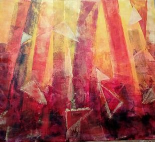 The Element-A by Vedanti S Kolhe, Abstract Painting, Acrylic on Canvas, Brown color
