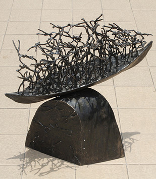 Untitled by K S Radhakrishnan, Art Deco Sculpture | 3D, Bronze, Beige color