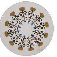 Persian-style Tabletop, Vietnamese White Wall Decor By Carved Additions