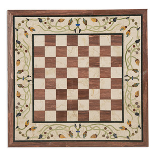 Chess Board Inlay Tabletop Furniture By Carved Additions