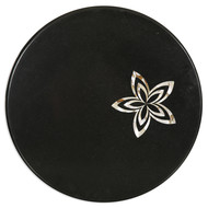 Black Marble Tabletop, Round Furniture By Carved Additions