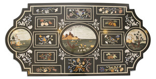 Pietre Dure Inlay Tabletop Furniture By Carved Additions
