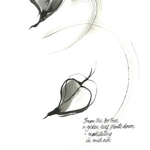From The Bow Tree by Satish Gupta, Illustration Drawing, Ink on Paper, Black color